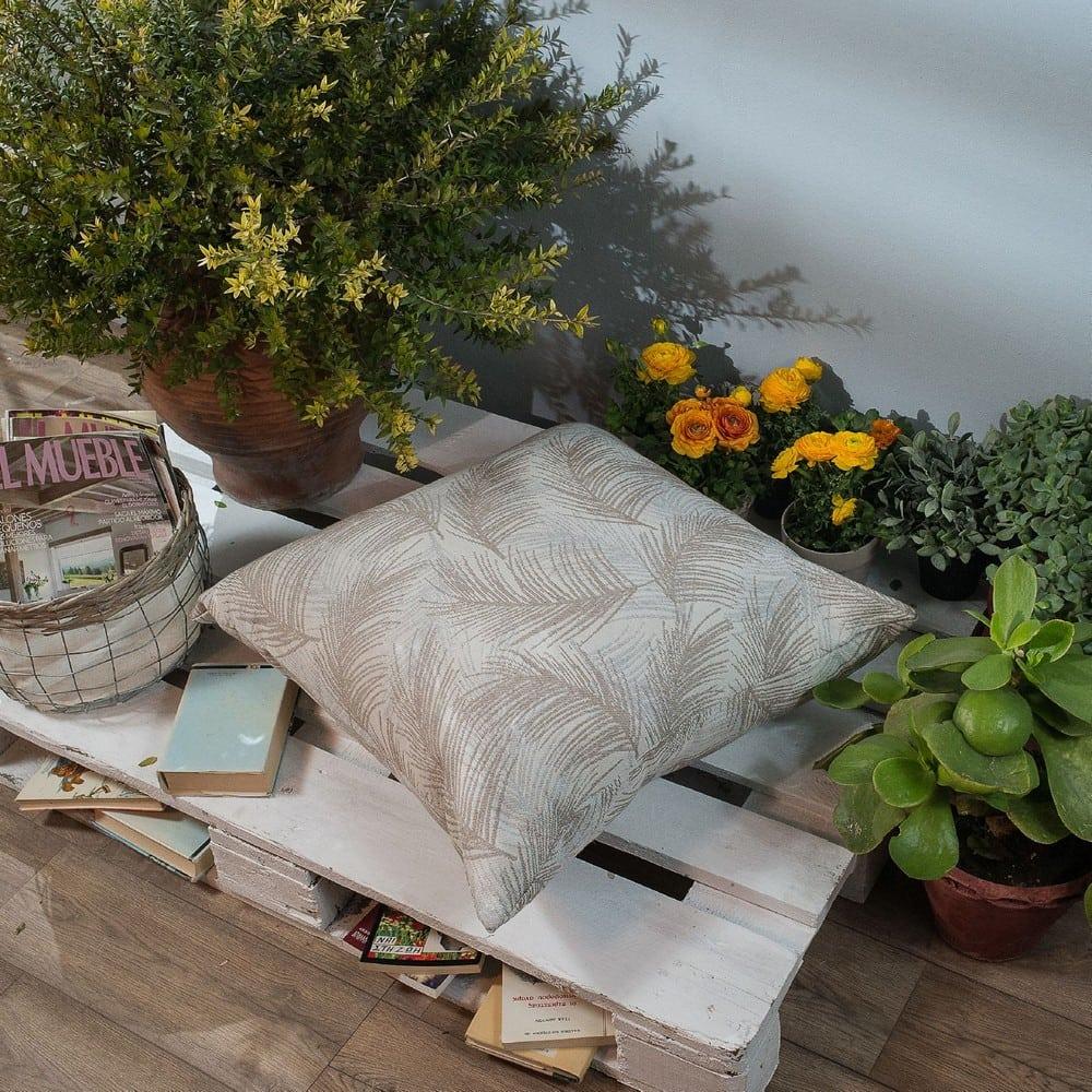 Μαξιλαροθήκη Διακοσμητική Δαπέδου Toscana 04 Grey Teoran 60X60 Βαμβάκι-Polyester