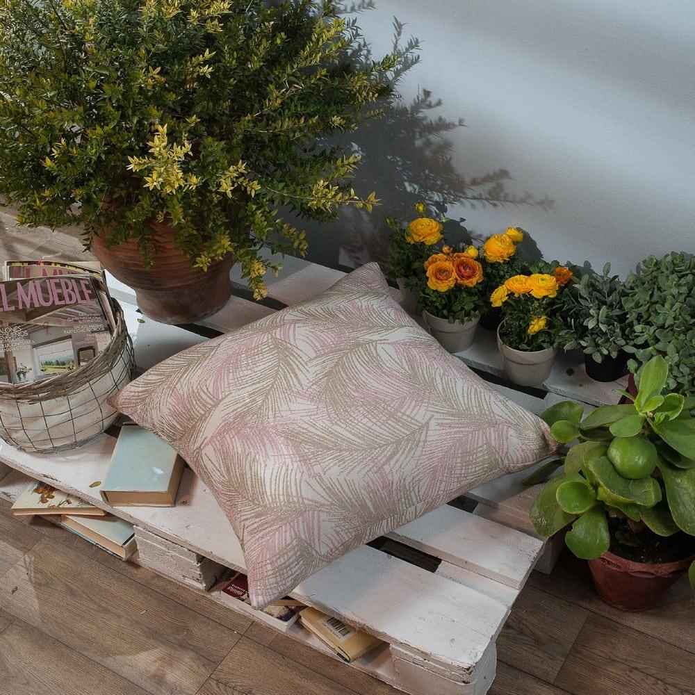 Μαξιλαροθήκη Διακοσμητική Δαπέδου Toscana 06 Pink Teoran 60X60 Βαμβάκι-Polyester