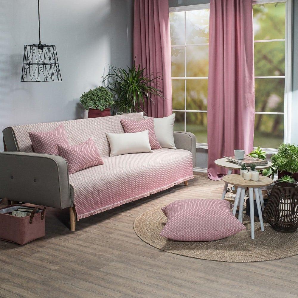 Ριχτάρι Bellagio 06 Pink Teoran Τριθέσιο 180x300cm
