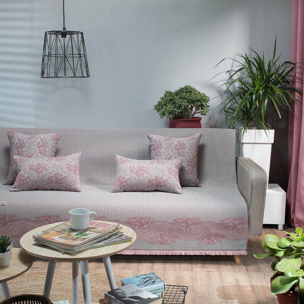 Ριχτάρι Monza 06 Pink Teoran Διθέσιο 180x250cm