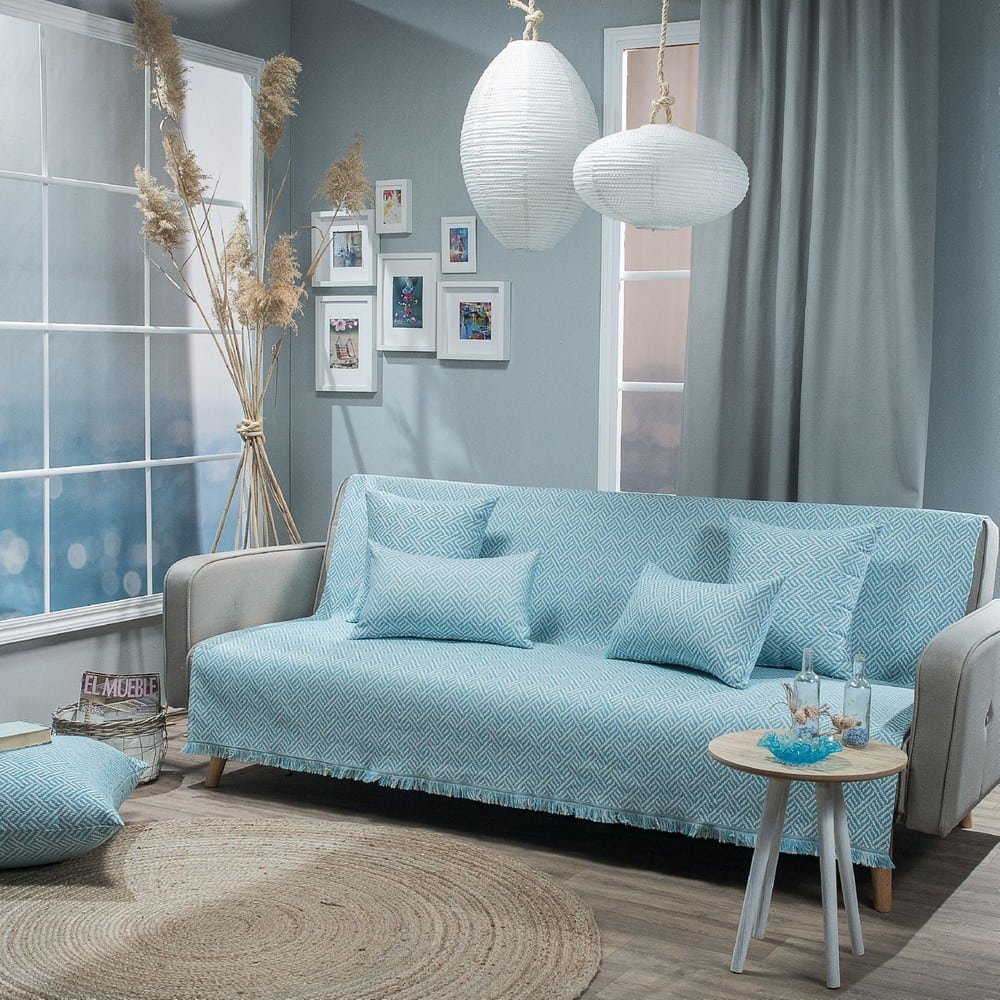 Ριχτάρι Ravela 05 Blue Teoran Πολυθρόνα 180x150cm