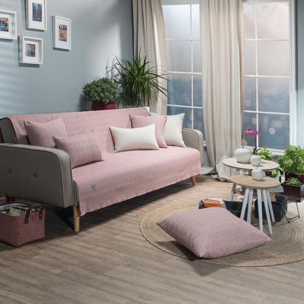 Ριχτάρι Ravela 06 Pink Teoran Πολυθρόνα 180x150cm
