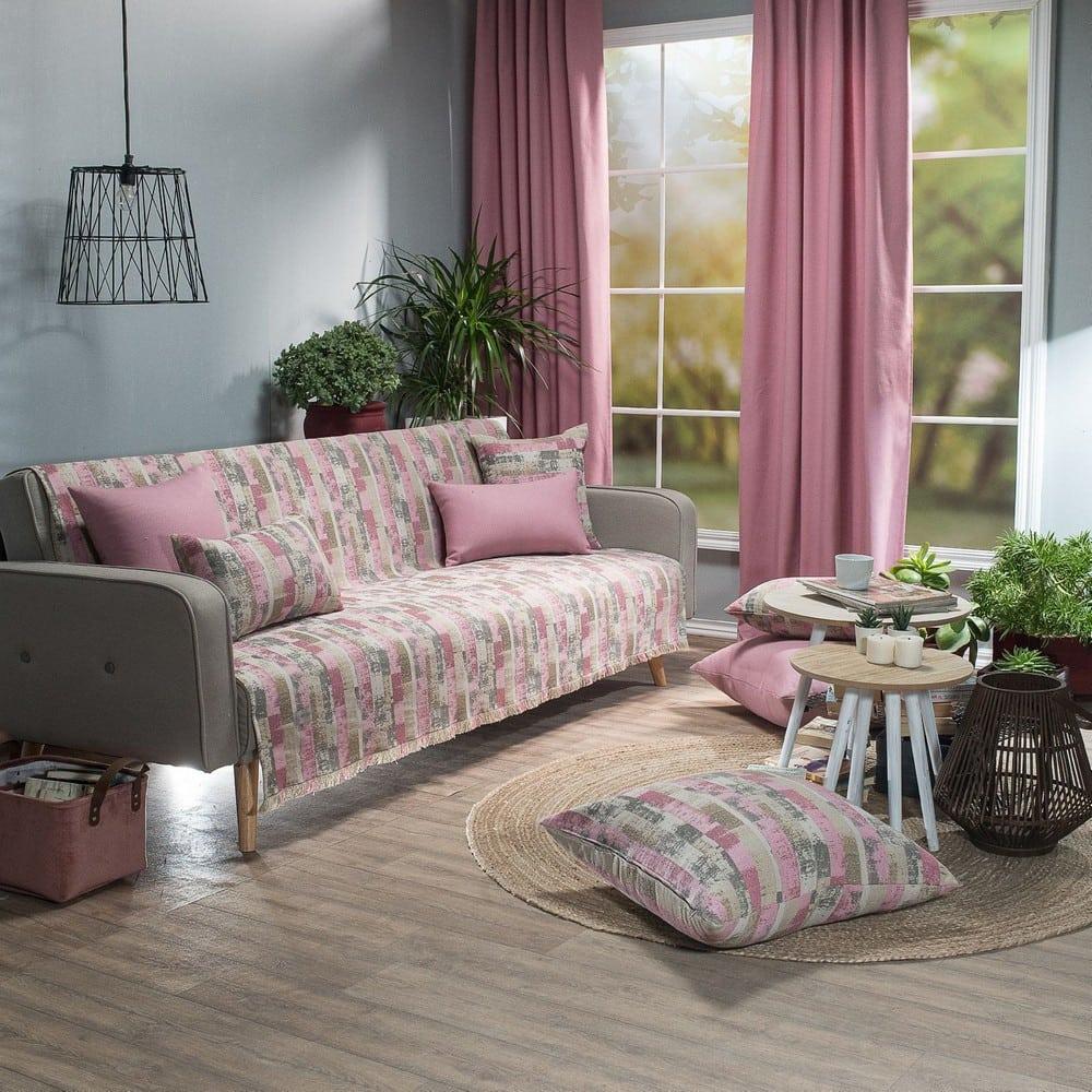 Ριχτάρι Salerno 06 Pink Teoran Διθέσιο 180x250cm