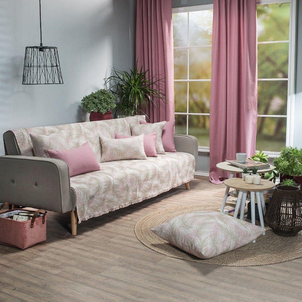 Ριχτάρι Toscana 06 Pink Teoran Τριθέσιο 180x300cm