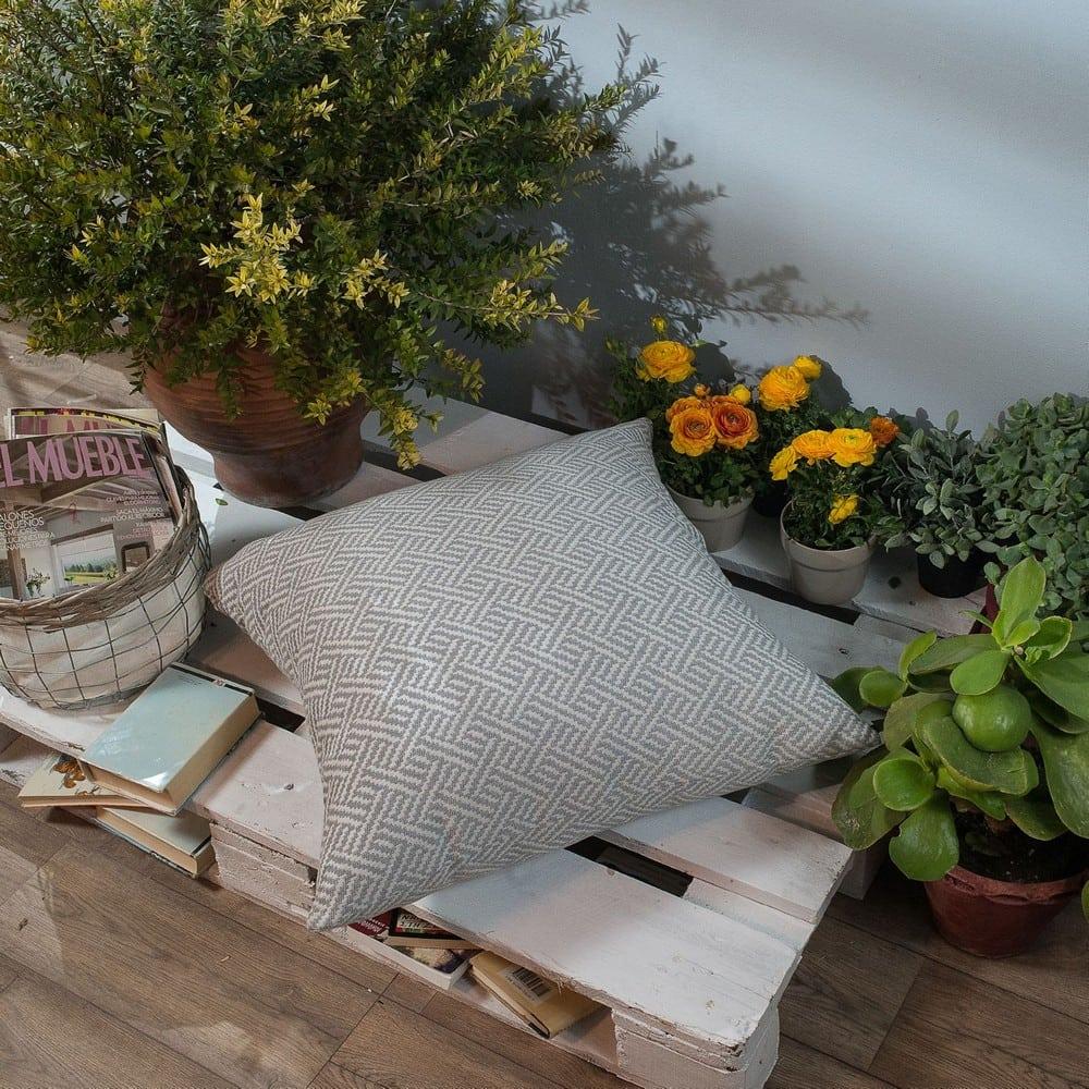 Μαξιλάρι Διακοσμητικό Δαπέδου (Με Γέμιση) Ravela 04 Grey Teoran 60X60 Βαμβάκι-Polyester
