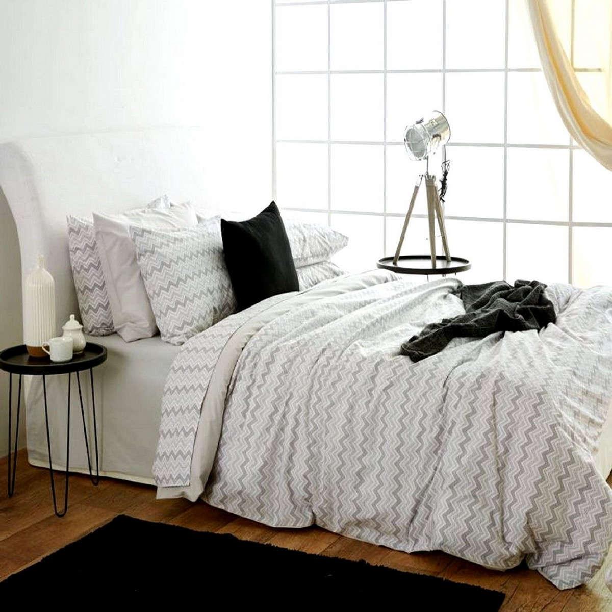 Κουβερλί Waves Grey Sb Home Υπέρδιπλo 225x240cm