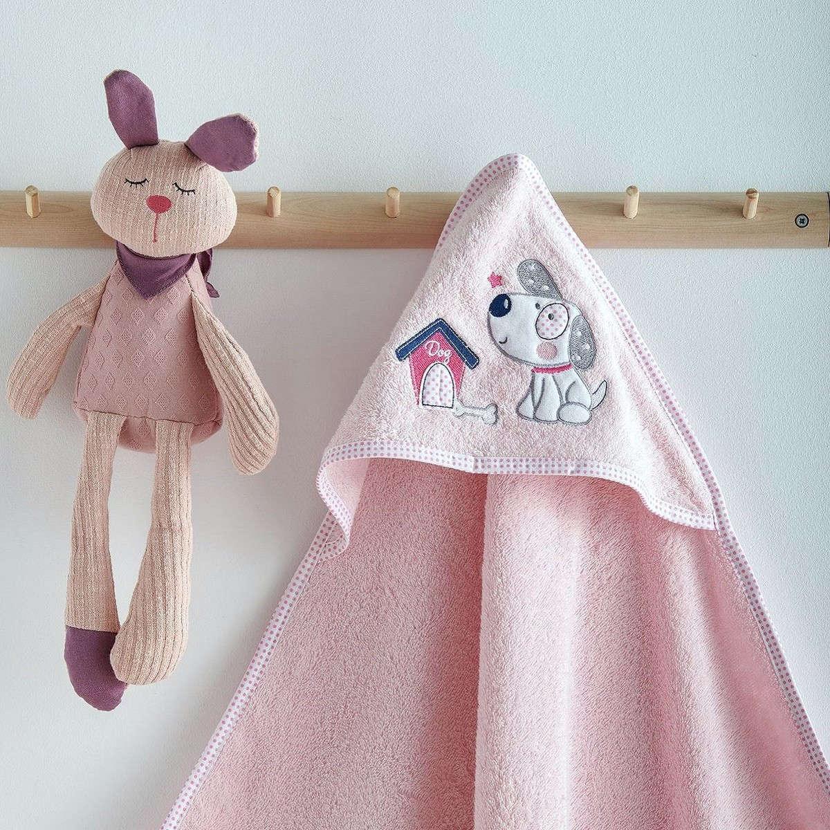 Κάπα Βεφική Με Κέντημα Puppy Pink Sb Home 0-2 ετών One Size