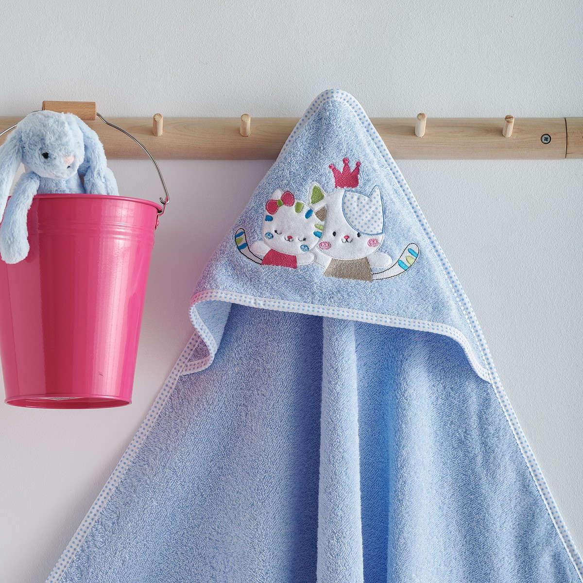 Κάπα Βεφική Με Κέντημα Gattino Blue Sb Home 0-2 ετών One Size