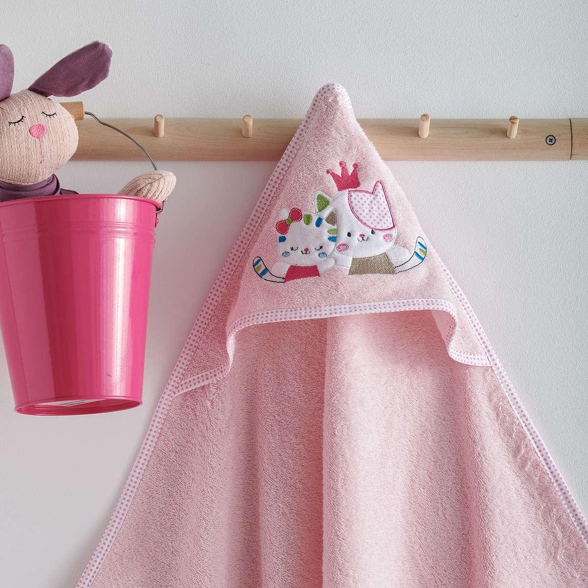 Κάπα Βεφική Με Κέντημα Gattino Pink Sb Home 0-2 ετών One Size