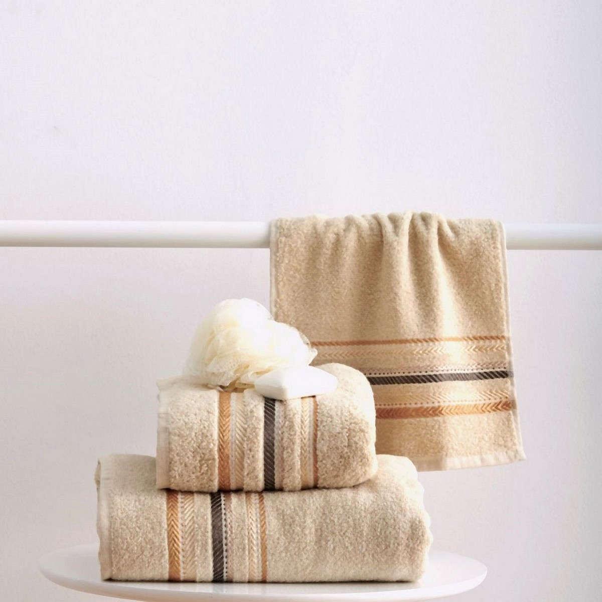 Πετσέτες Σετ 3Τεμ. Timothy Cream Sb Home Σετ Πετσέτες