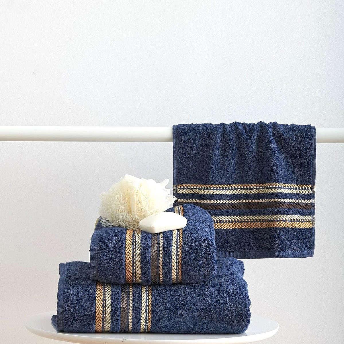 Πετσέτες Σετ 3Τεμ. Timothy Navy Sb Home Σετ Πετσέτες
