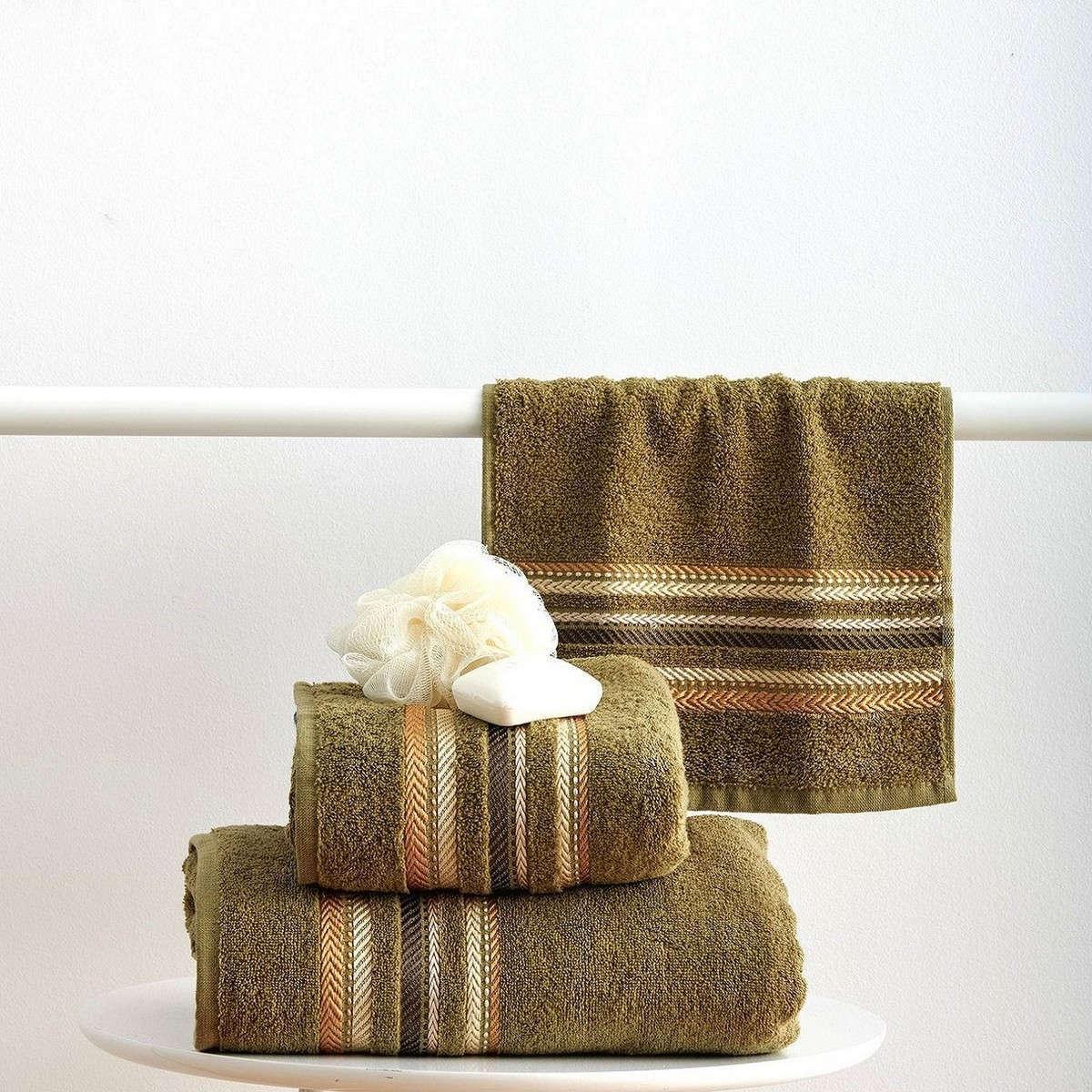 Πετσέτες Σετ 3Τεμ. Timothy Olive Sb Home Σετ Πετσέτες