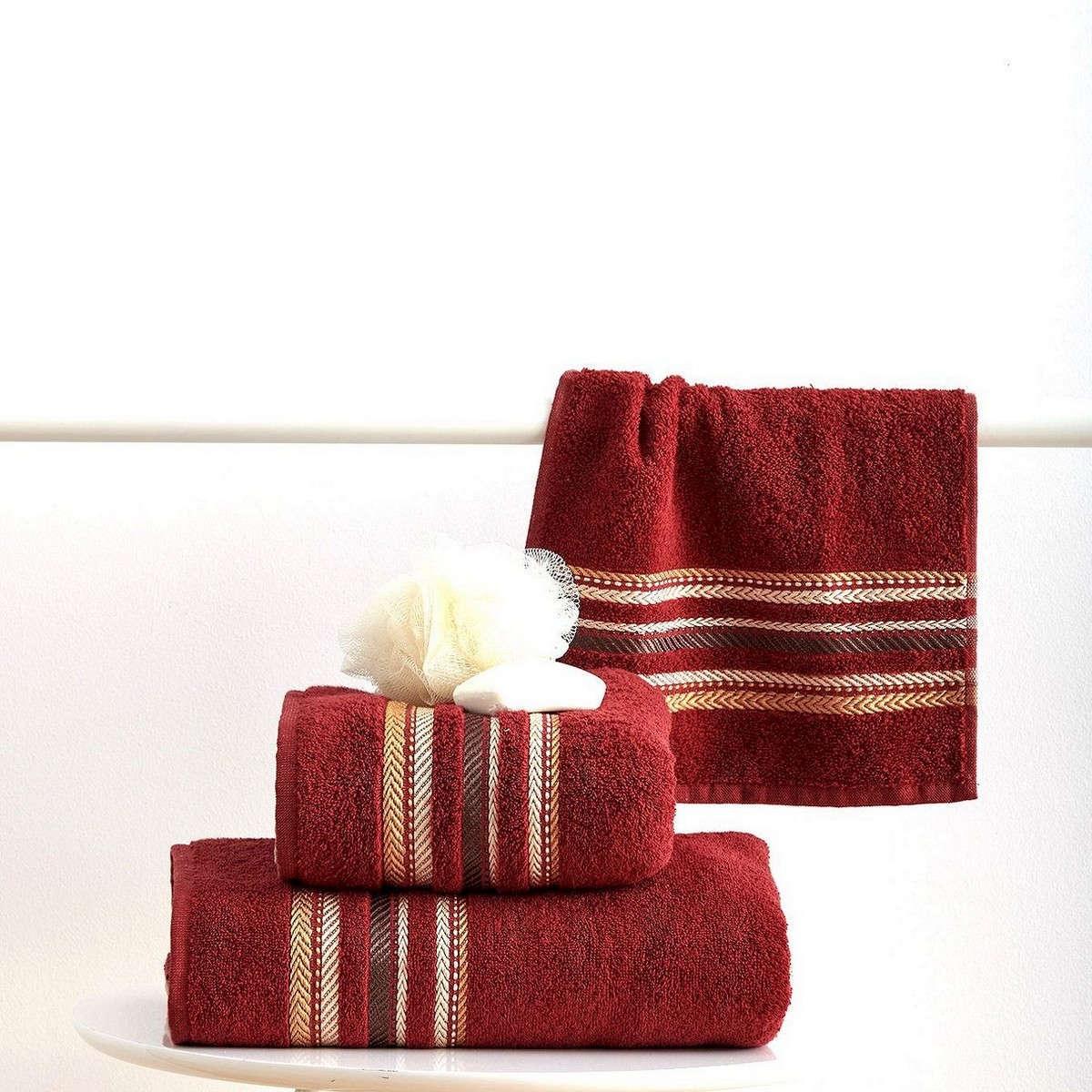 Πετσέτες Σετ 3Τεμ. Timothy Terracota Sb Home Σετ Πετσέτες