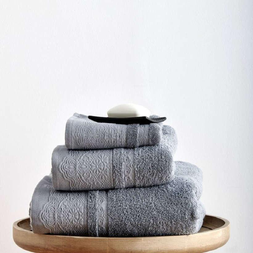 Πετσέτες Σετ 3Τεμ. Felix Grey Sb Home Σετ Πετσέτες