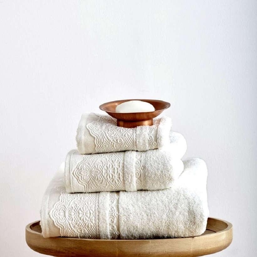 Πετσέτες Σετ 3Τεμ. Felix Ivory Sb Home Σετ Πετσέτες
