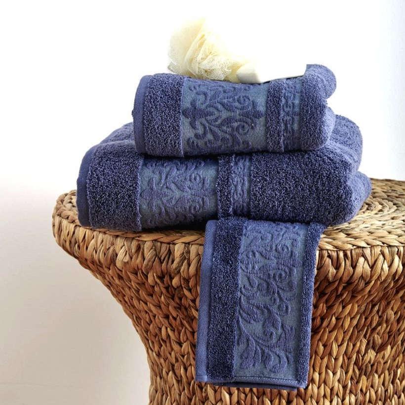 Πετσέτες Σετ 3Τεμ. Bryan Blue Sb Home Σετ Πετσέτες