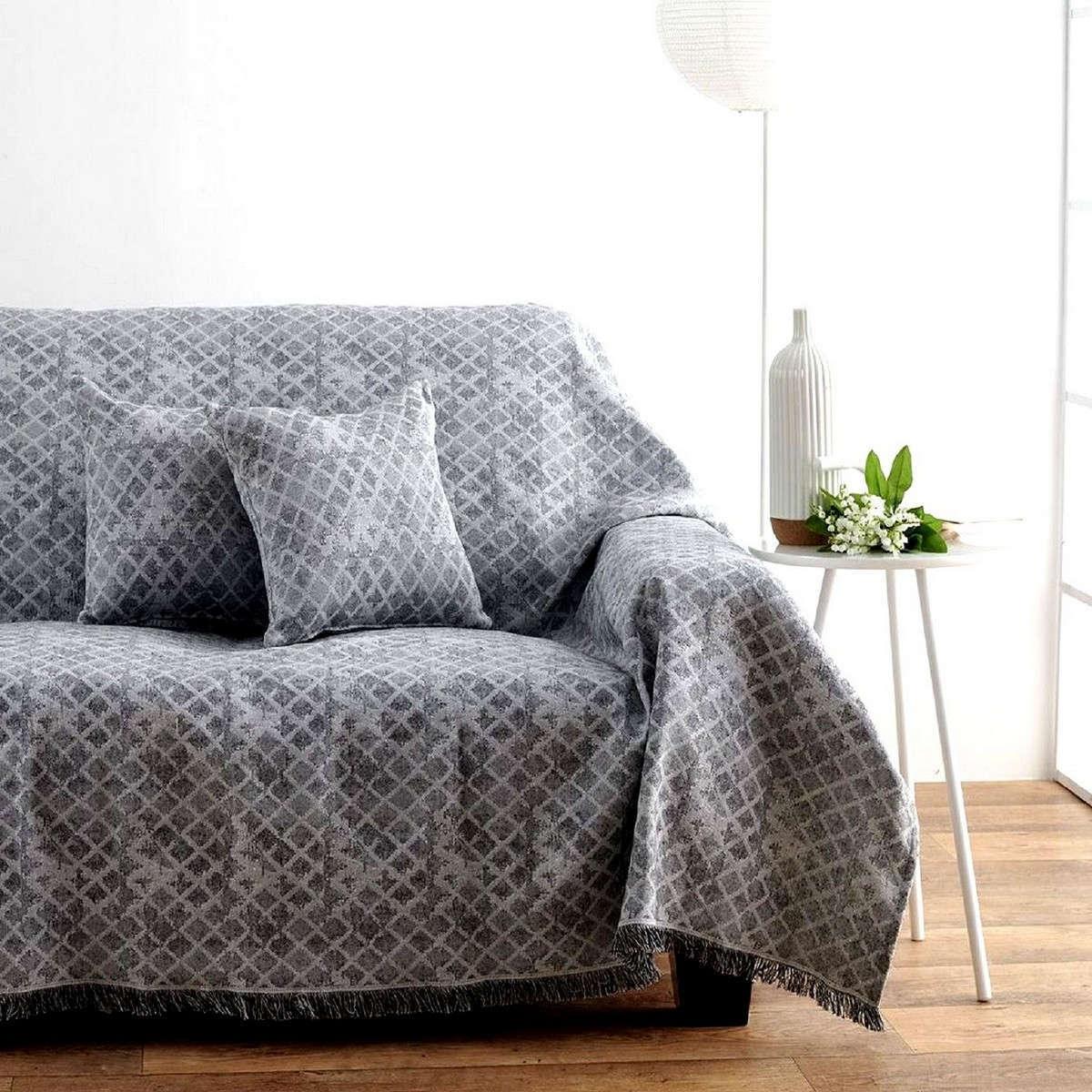 Ριχτάρι Nice Grey Sb Home Τριθέσιο 180x300cm