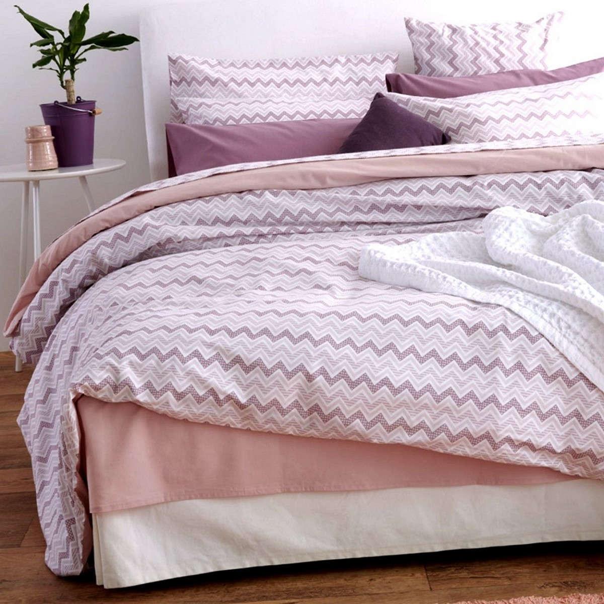 Σεντόνια Σετ 4Τμχ. Waves Pink Sb Home Υπέρδιπλo 240x265cm