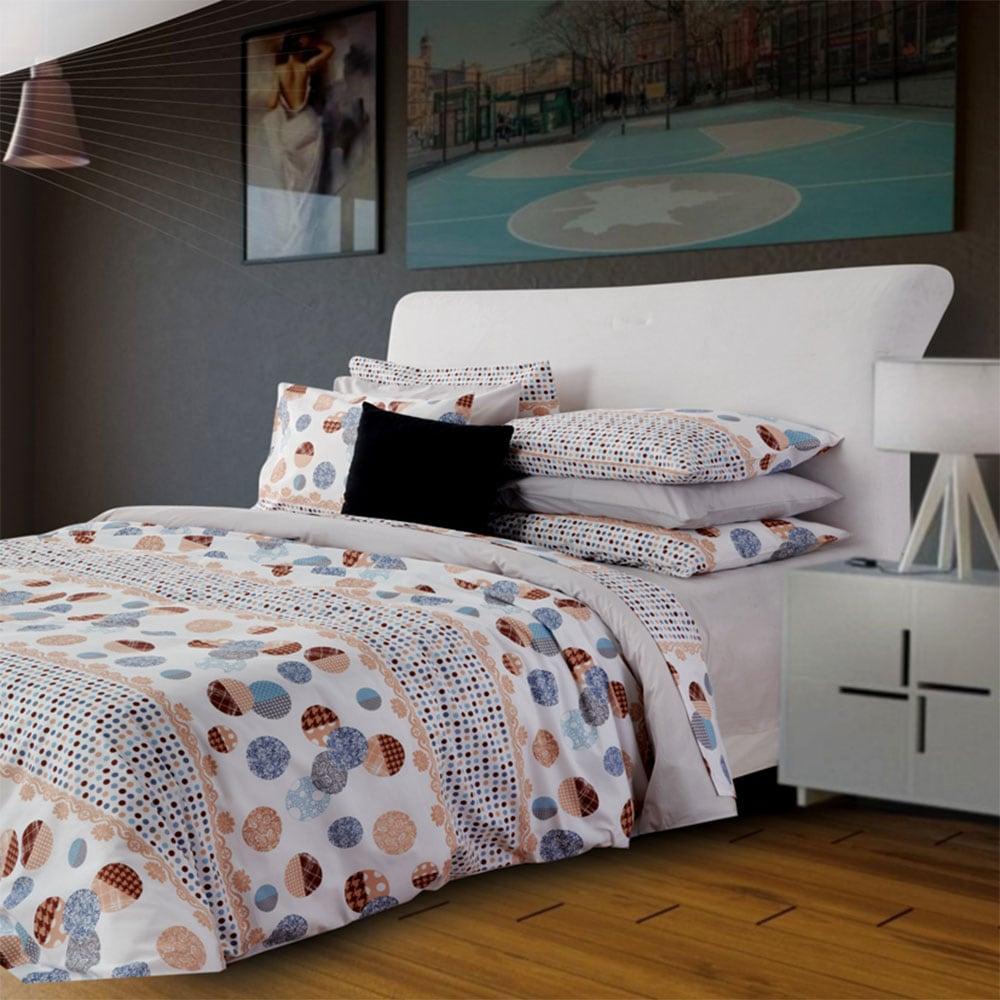Σεντόνια Σετ 4Τμχ. Dots Grey Sb Home Υπέρδιπλo 240x265cm