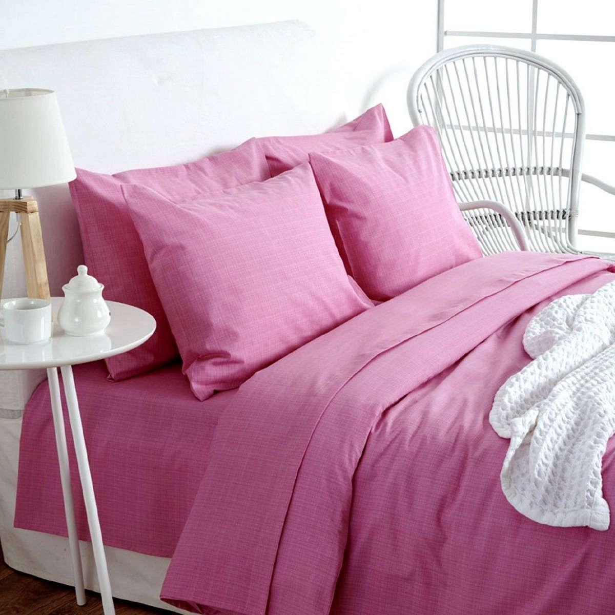 Σεντόνια Σετ Lucifer Pink Sb Home Υπέρδιπλo 220x240cm