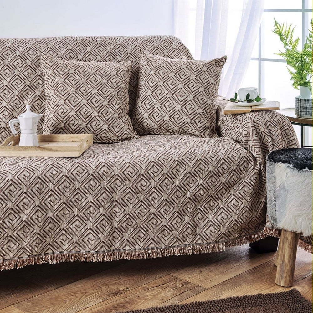 Μαξιλαροθήκη Torino Beige Sb Home 40Χ40 100% Chenille