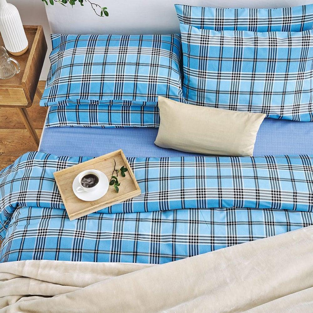 Παπλωματοθήκη Marco Blue Sb Home Υπέρδιπλo 220x240cm