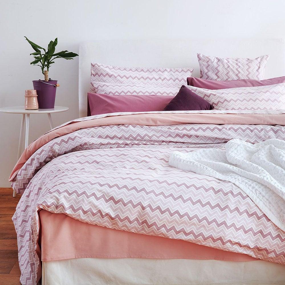 Παπλωματοθήκη Waves Pink Sb Home Υπέρδιπλo 225x240cm