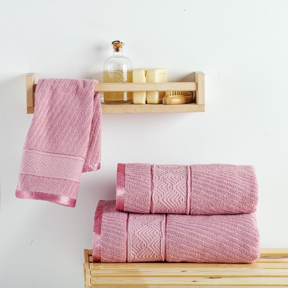 Πετσέτα Flavia Rosa Sb Home Σώματος 70x140cm