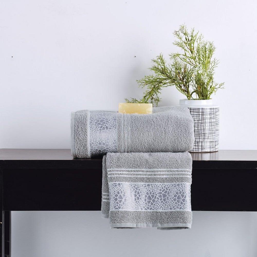 Πετσέτα Paola Silver Sb Home Σώματος 70x140cm