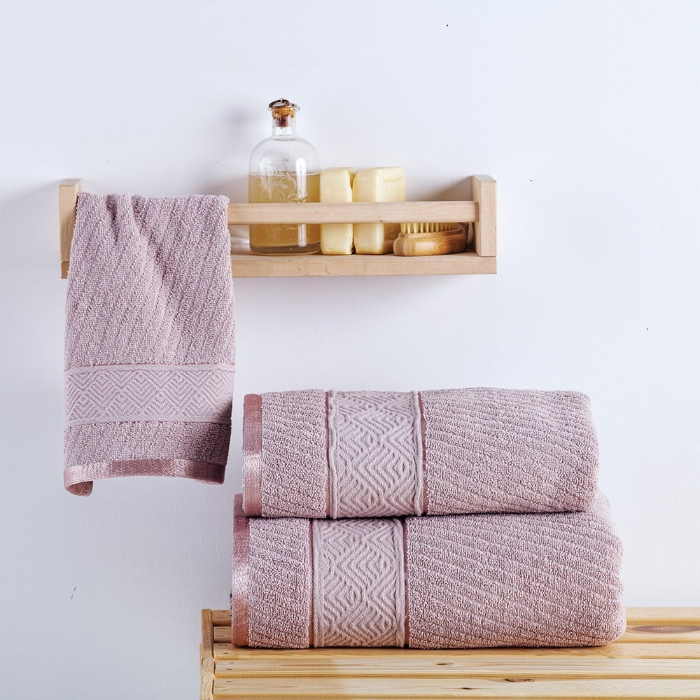 Πετσέτες Σετ 2 Τεμ. Flavia Lilac Sb Home Σετ Πετσέτες