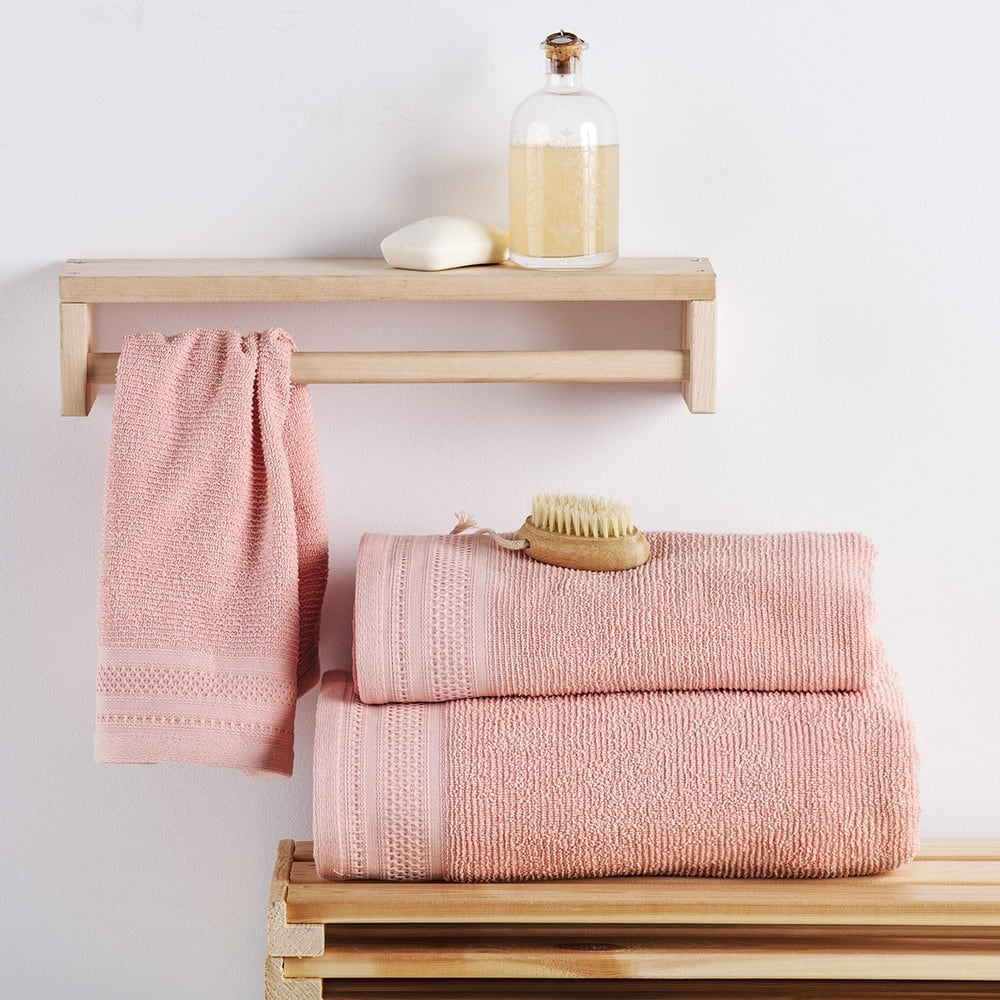 Πετσέτες Σετ 2 Τεμ. Matteo Pink Sb Home Σετ Πετσέτες
