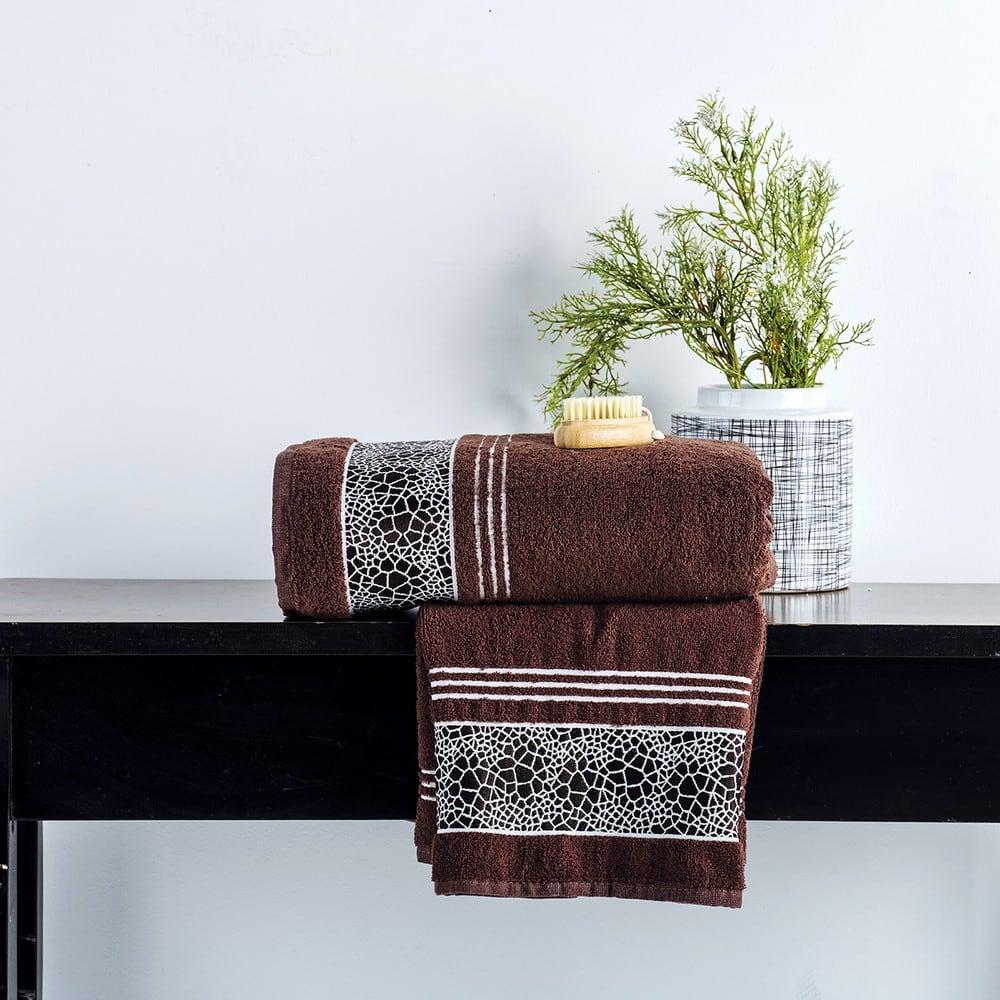 Πετσέτες Σετ 2 Τεμ. Paola Coffee Sb Home Σετ Πετσέτες