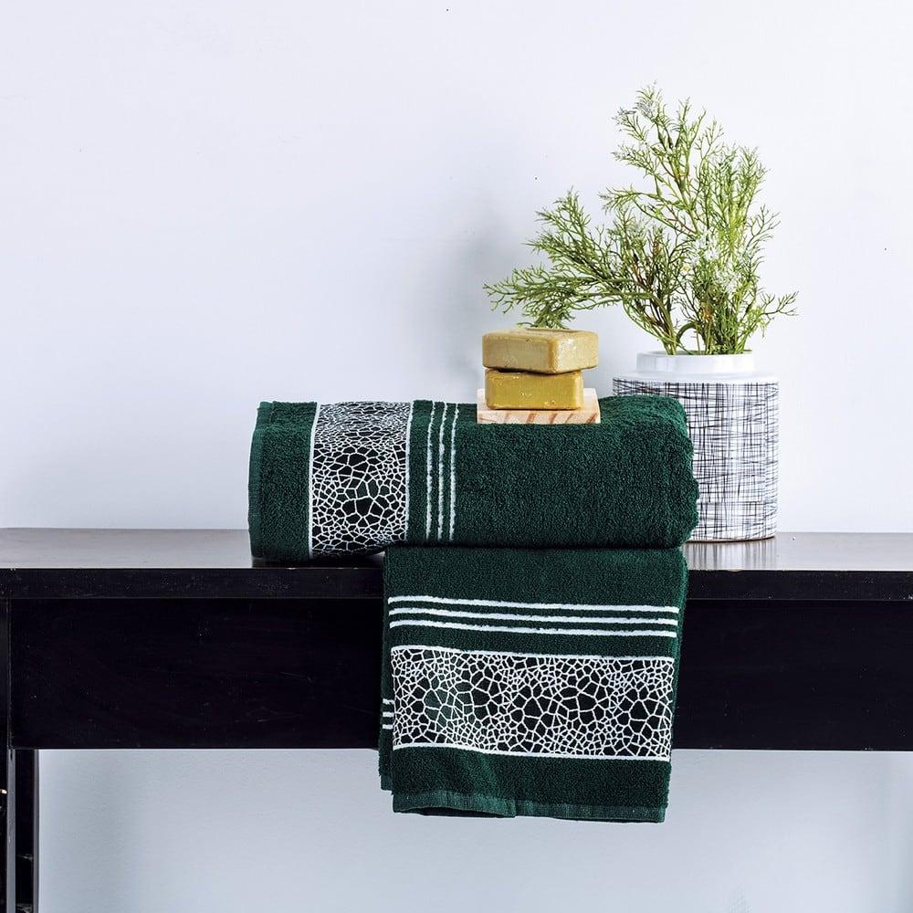 Πετσέτες Σετ 2 Τεμ. Paola Emerald Sb Home Σετ Πετσέτες