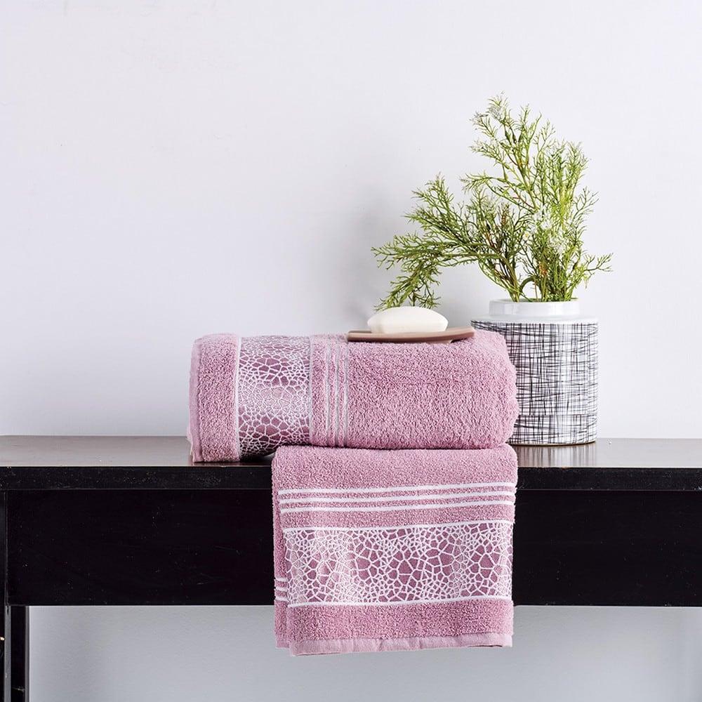Πετσέτες Σετ 2 Τεμ. Paola Pink Sb Home Σετ Πετσέτες