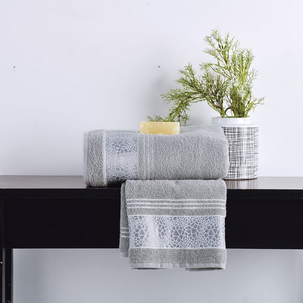 Πετσέτες Σετ 2 Τεμ. Paola Silver Sb Home Σετ Πετσέτες