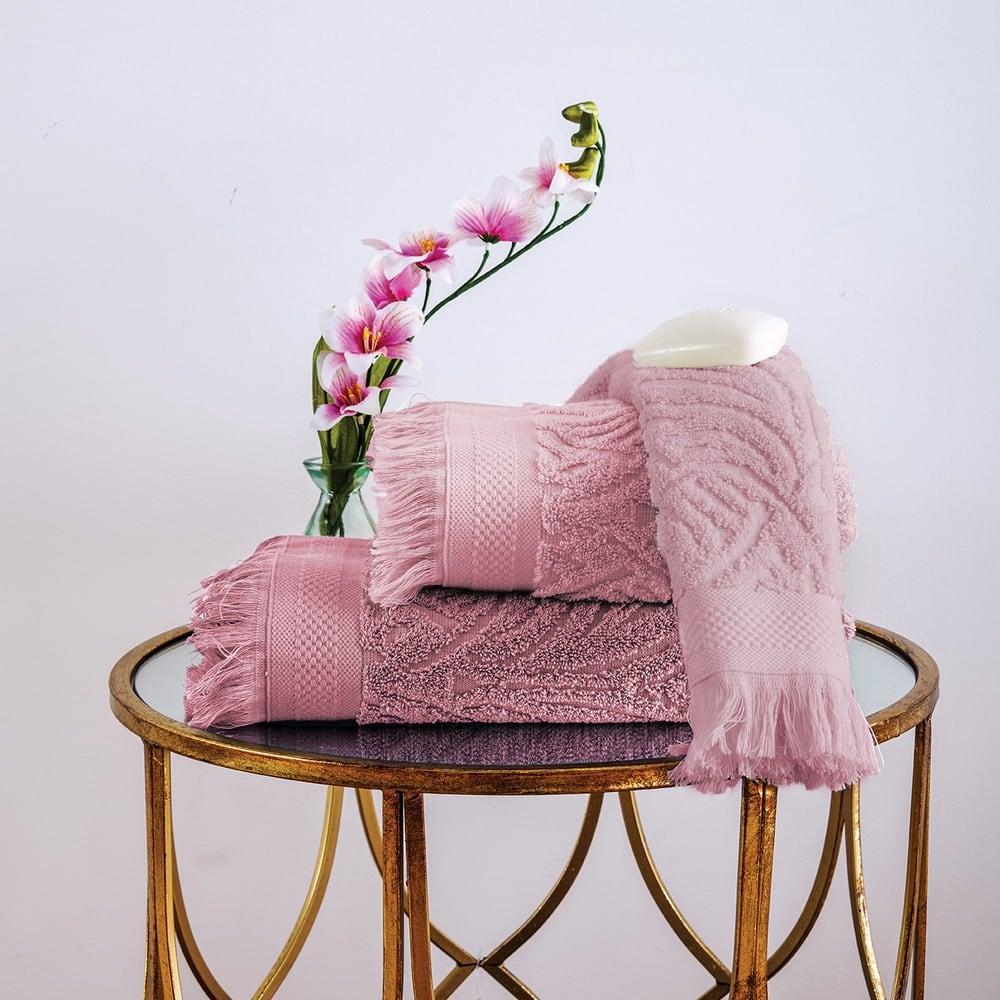 Πετσέτες Σετ 3 Τεμ. Celine Dusty Pink Sb Home Σετ Πετσέτες