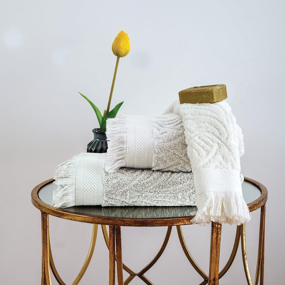 Πετσέτες Σετ 3 Τεμ. Celine Ivory Sb Home Σετ Πετσέτες