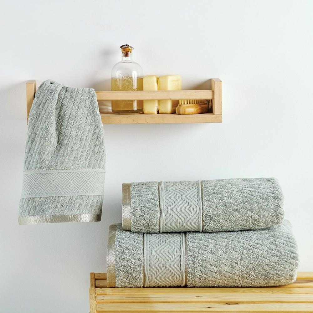 Πετσέτες Σετ 3 Τεμ. Flavia Metal Sb Home Σετ Πετσέτες