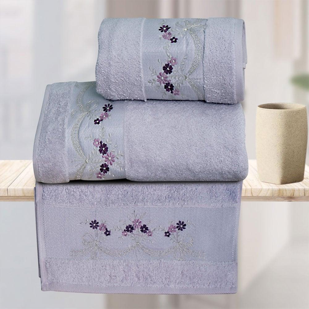 Πετσέτες Σετ 3 Τεμ. Luisa Lilac Sb Home Σετ Πετσέτες