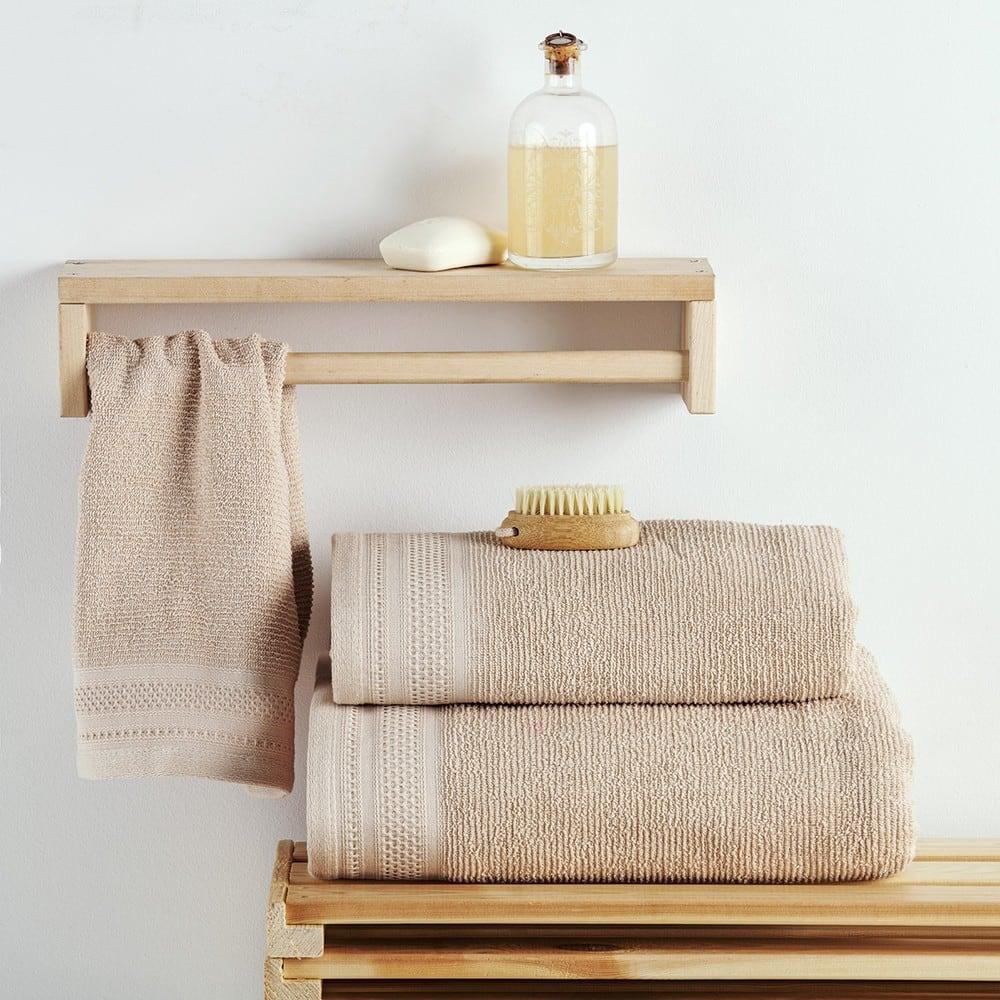 Πετσέτες Σετ 3 Τεμ. Matteo Cream Sb Home Σετ Πετσέτες
