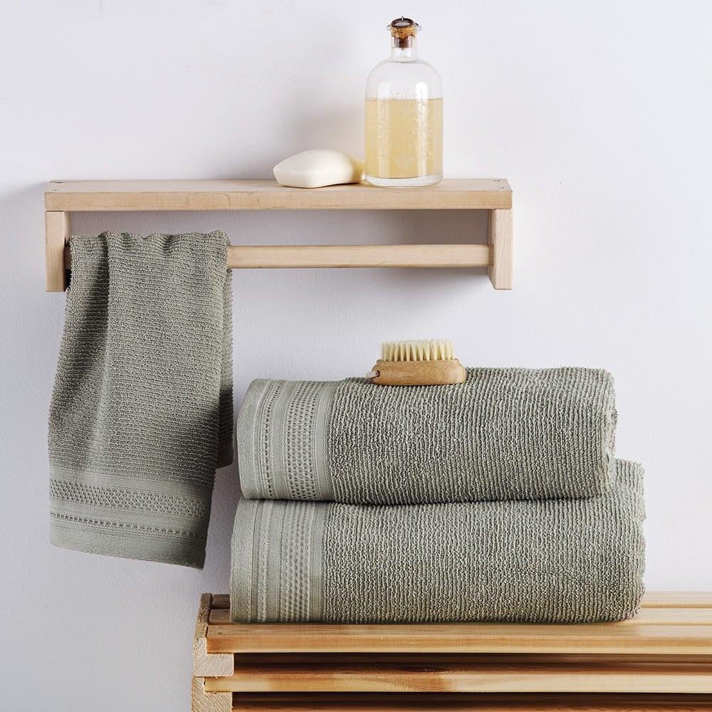 Πετσέτες Σετ 3 Τεμ. Matteo Olive Sb Home Σετ Πετσέτες