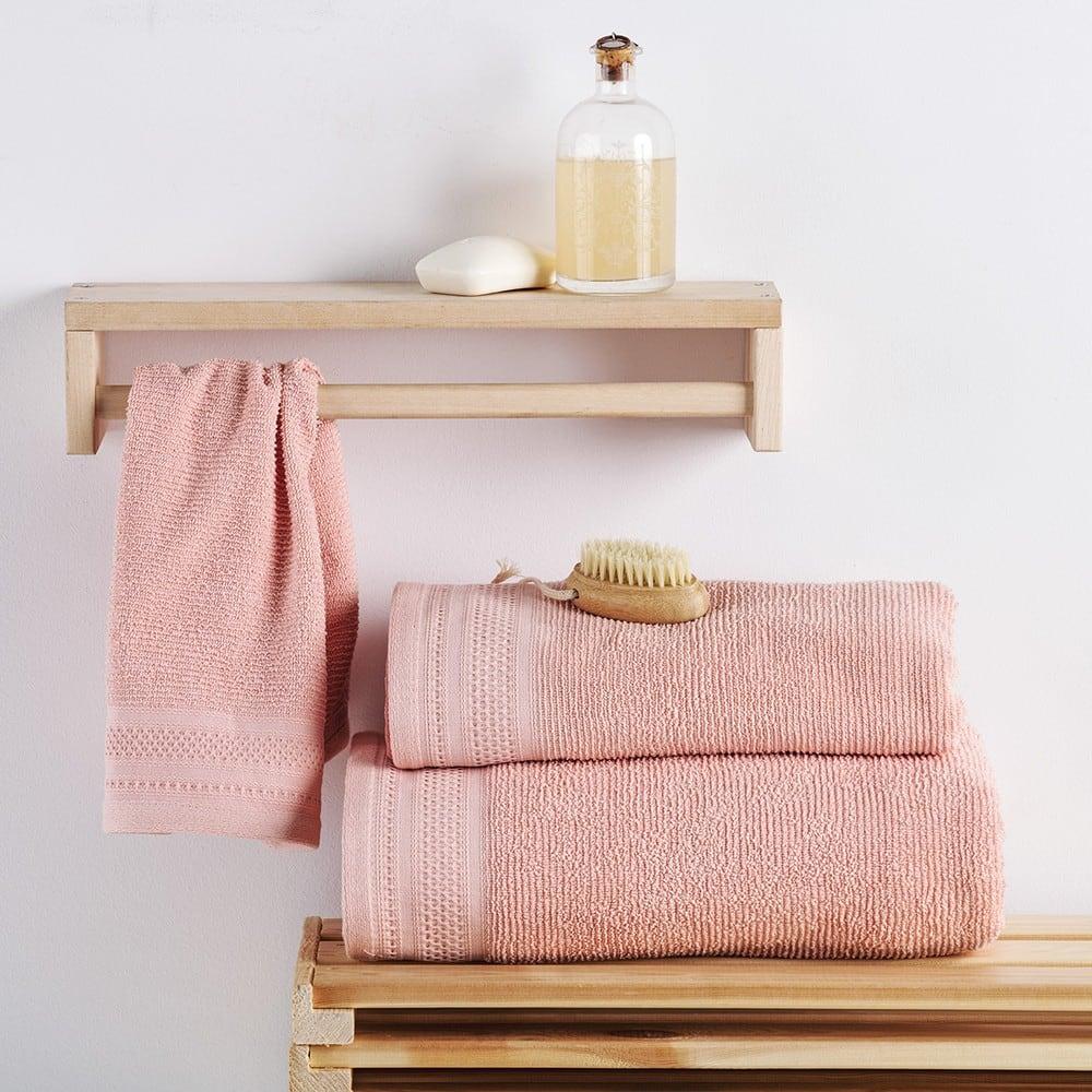 Πετσέτες Σετ 3 Τεμ. Matteo Pink Sb Home Σετ Πετσέτες