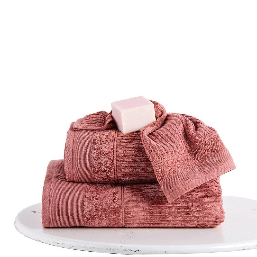 Πετσέτες Σετ 3 Τεμ. Thomas Dusty Pink Sb Home Σετ Πετσέτες