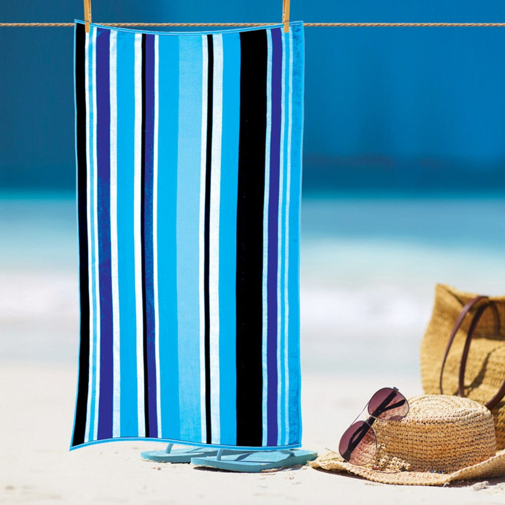 Πετσέτα Θαλάσσης Ζακάρ Blue Νο 1003 Sb Home Θαλάσσης 90x175cm