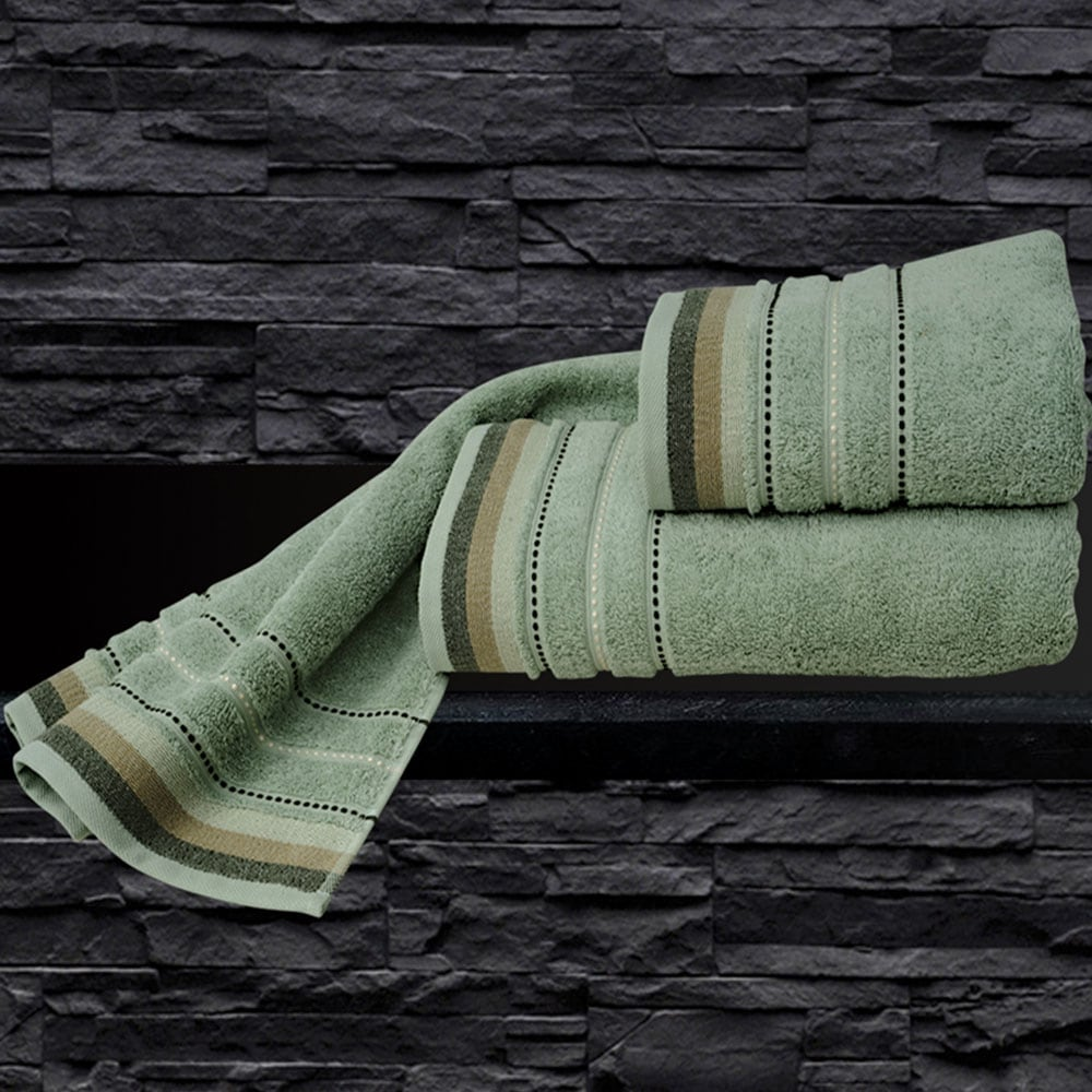 Πετσέτα Sesilia Green Sb Home Σώματος 70x140cm