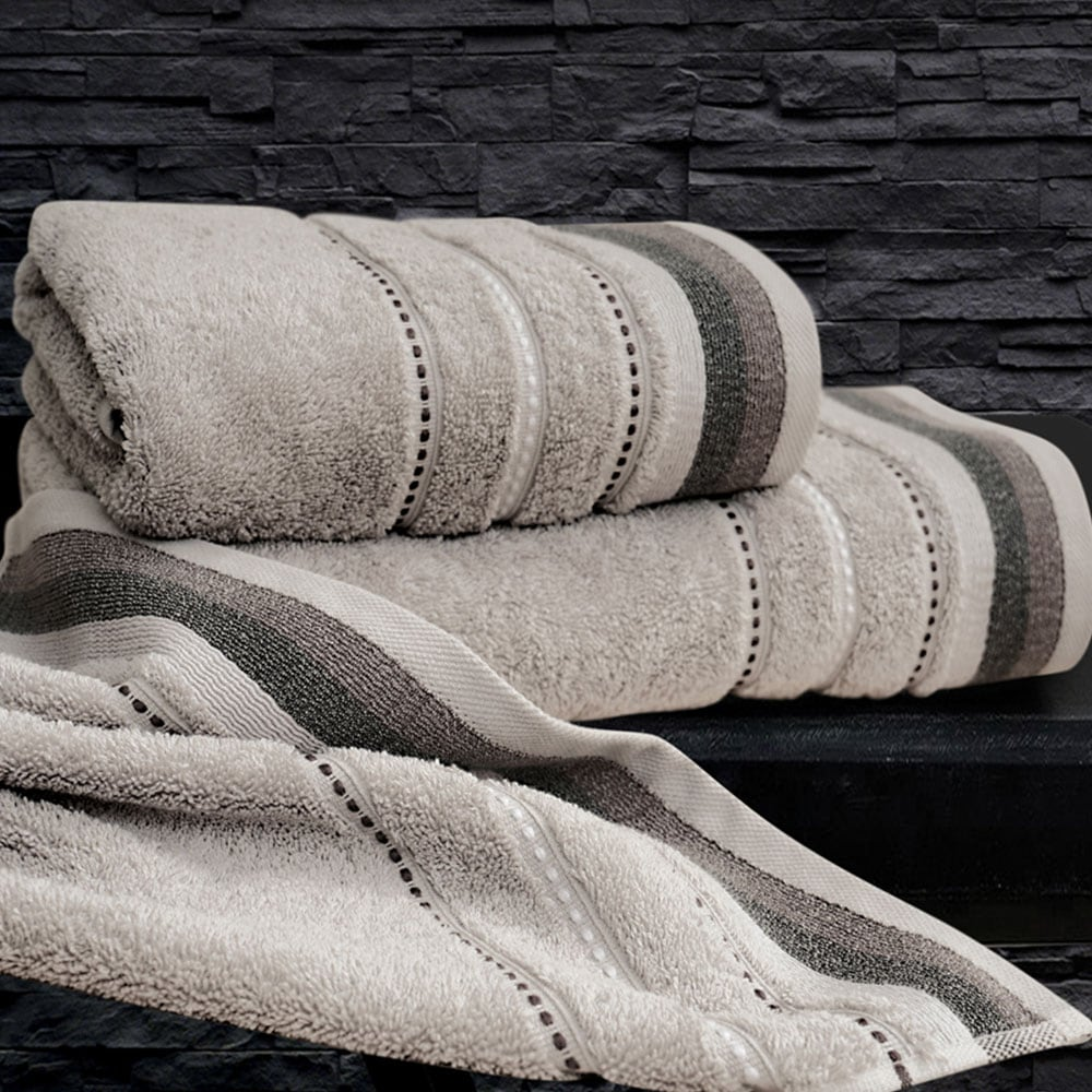 Πετσέτες Σετ 2 τμχ Sesilia Silver Sb Home Σετ Πετσέτες