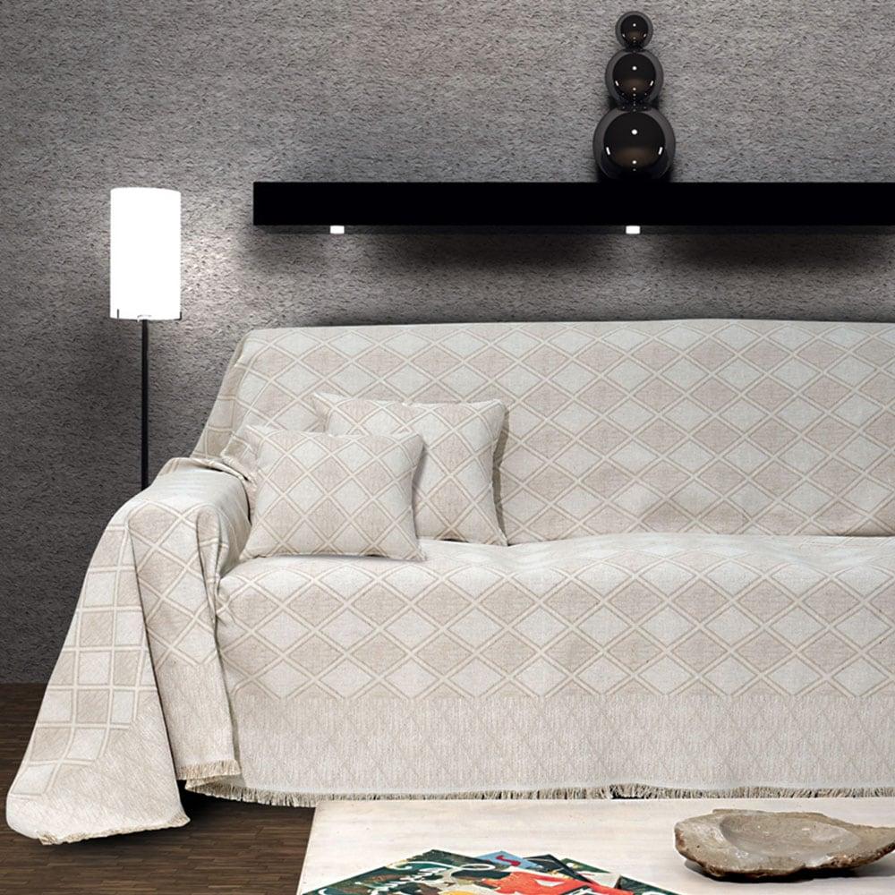 Ριχτάρι Kasandra Cream Sb Home Τριθέσιο 180x300cm