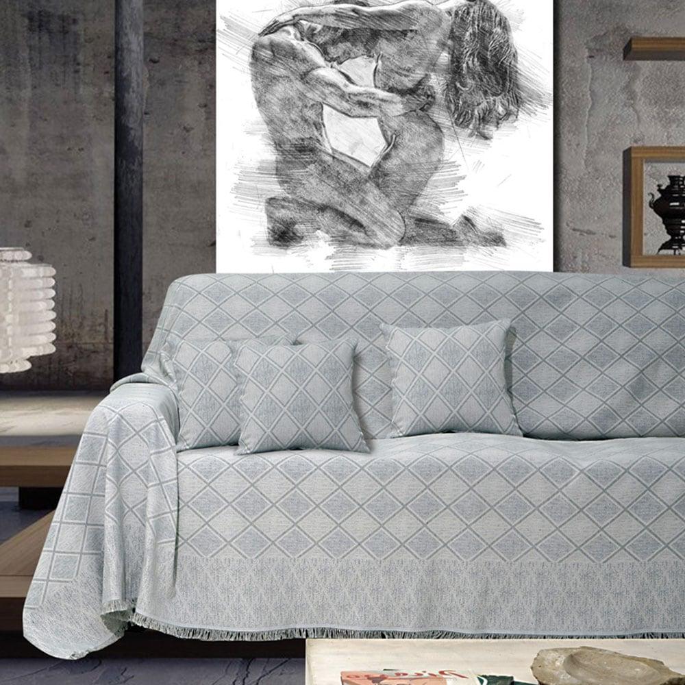 Ριχτάρι Kasandra Silver Sb Home Διθέσιο 180x240cm