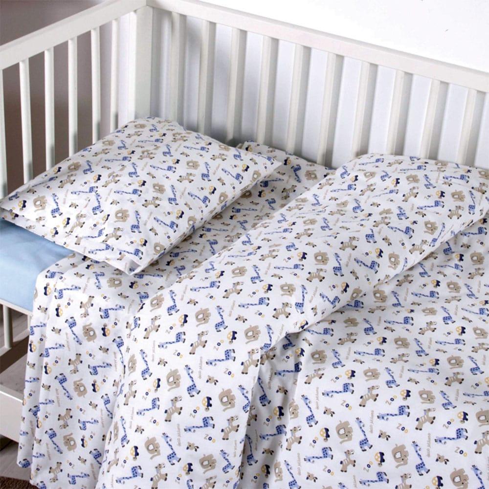Σεντόνια Παιδικά Σετ 3τμχ Melva Blue Sb Home Μονό 160x240cm