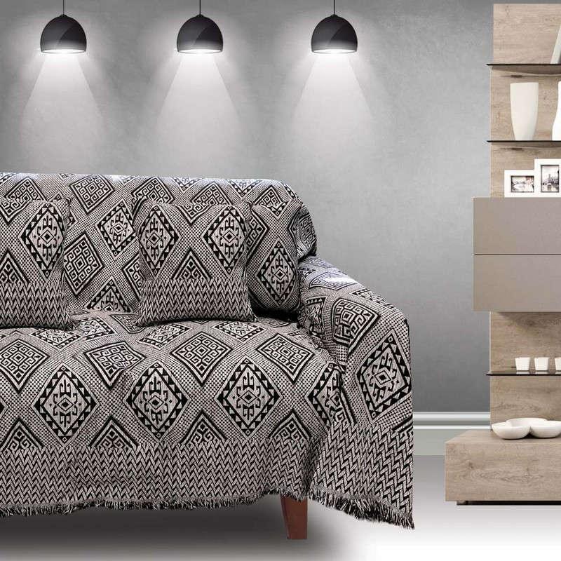 Μαξιλαροθήκη Διακοσμητική Tivoli Black Sb Home 40Χ40 100% Chenille